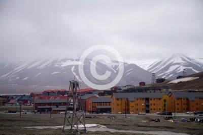 landscape of svalbard during the summer season