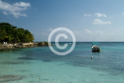 mexican riviera in South of mexico, akumal beach