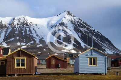 ny alesung in the svalbard island near north pole