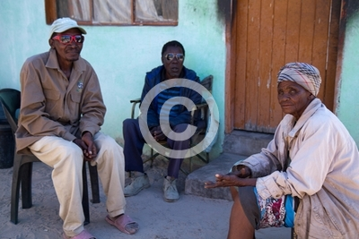 people of botswana in small village