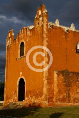 sant elena Church in Yucatan near merida, mexico