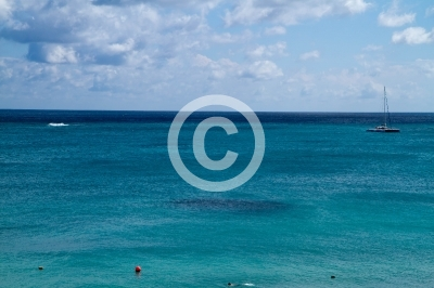 tulum ruins, view of the caribean sea and its wonderful beach