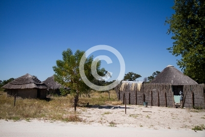 typical village in botswana