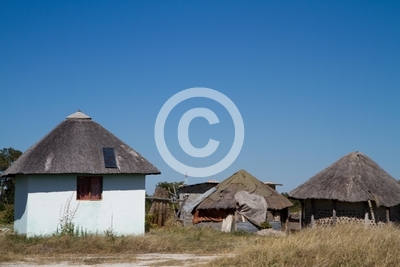 typical village in botswana, africa