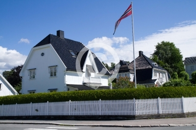 view of the typical norvagian house in oslo